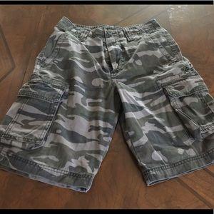 Boys Cargo shorts camo size 14